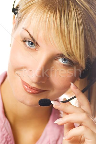 Accueillant hotline opérateur portrait internet Photo stock © Nejron