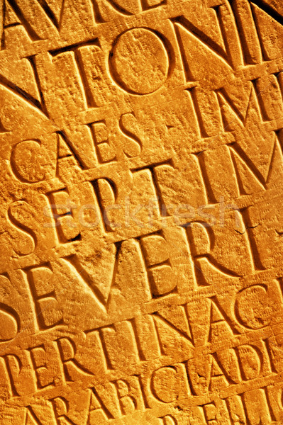 Stock photo: Roman letters texture
