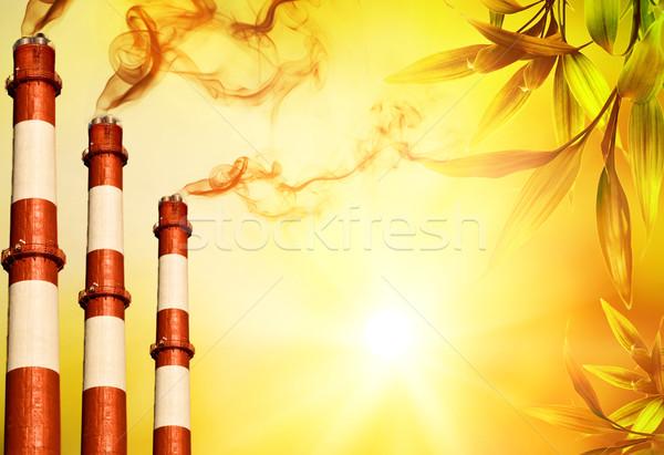 Power plants. Global warming concept   Stock photo © Nejron