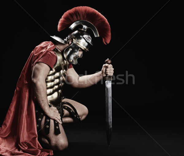 Stock photo: Portrait of a legionary soldier