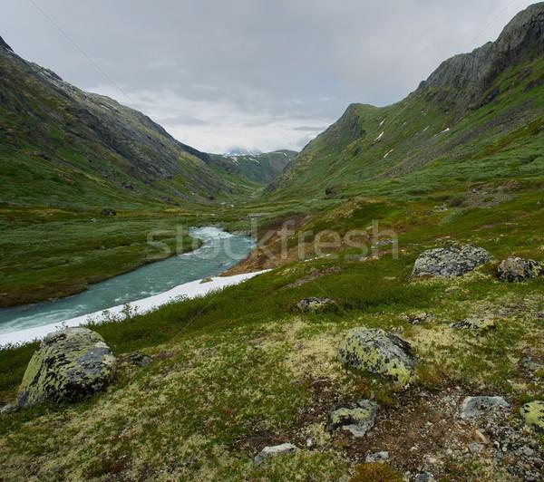 River in scandinavian landscape Stock photo © Nejron