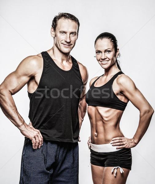 Pareja hermosa mujer hombre deporte Foto stock © Nejron