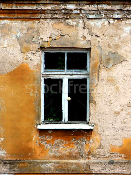 Geen beschrijving huis muur venster oranje Stockfoto © Nejron