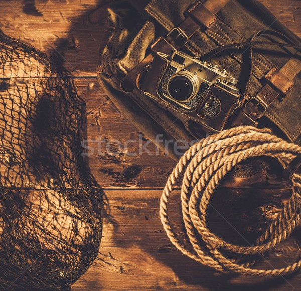 Sea travellers concept in wooden interior  Stock photo © Nejron