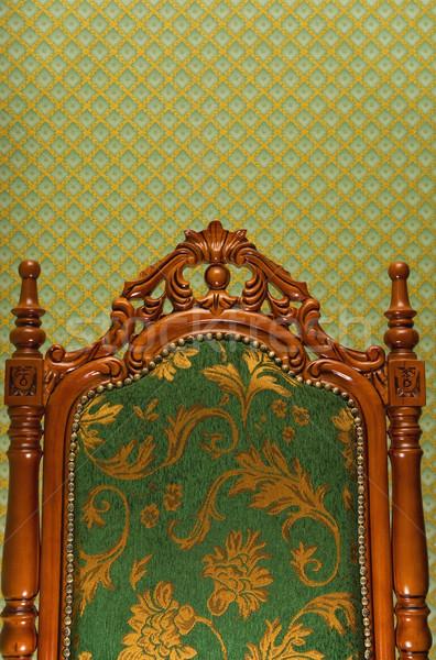 Luxus királyi szék absztrakt szövet ház Stock fotó © Nejron
