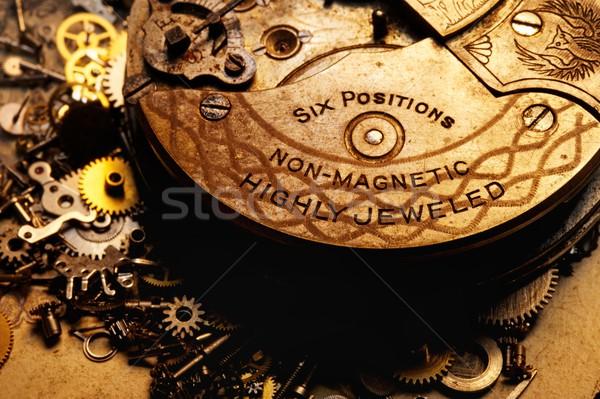 Eski dişliler soyut teknoloji arka plan Stok fotoğraf © Nejron