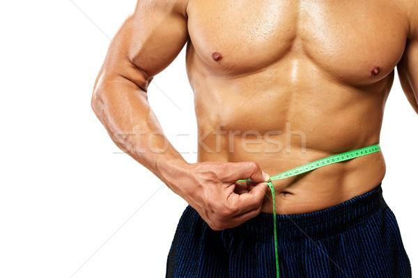 Férfi mér csípővonal fitnessz testmozgás izom Stock fotó © Nejron