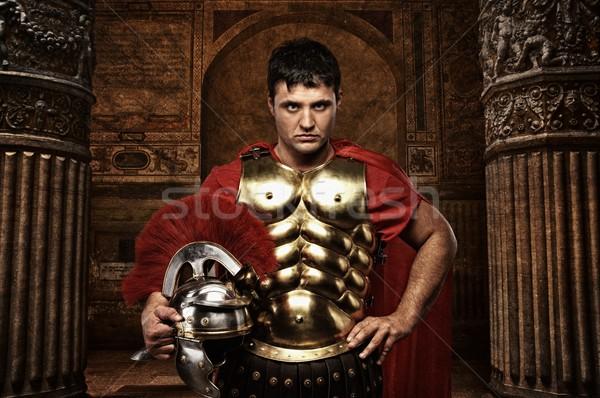 Roman soldier against antique building. Stock photo © Nejron