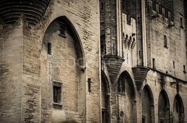 Palais des Papes in Avignon, France Stock photo © Nejron