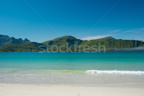 Сток-фото: красивой · Норвегия · пляж · пейзаж