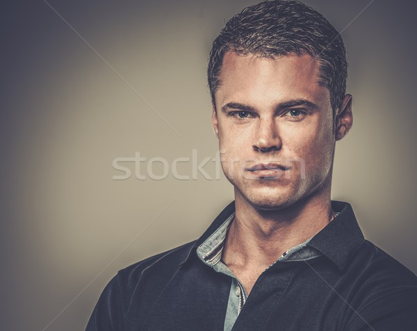 Handsome man wearing polo shirt  Stock photo © Nejron