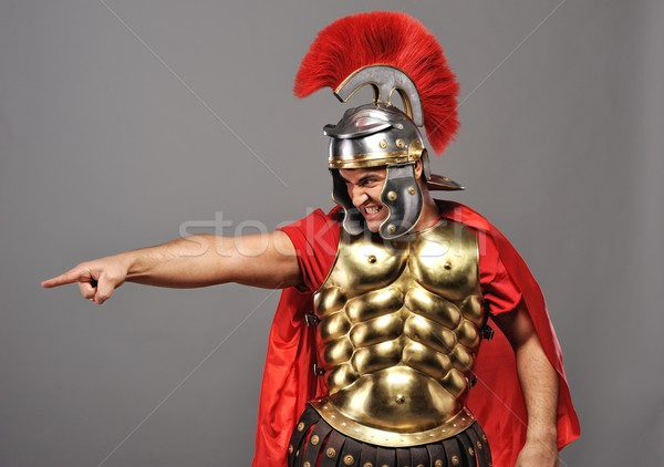 Stock photo: Angry legionary soldier