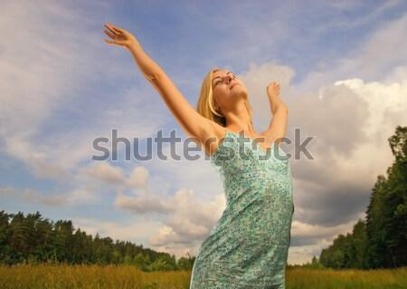 великолепный девушки облачный за женщину Сток-фото © Nejron