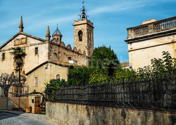 Sant Feliu church in Alella town, Spain Stock photo © Nejron