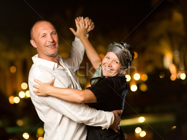 пару танцы вальс ночь семьи Сток-фото © Nejron