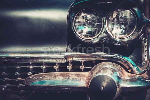 Ret rod style american car facia  Stock photo © Nejron
