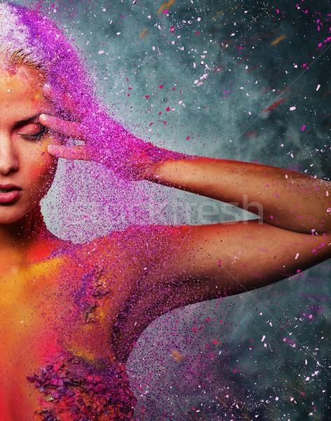 Emberi lény testművészet nő lány divat Stock fotó © Nejron