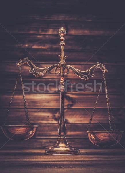 Latão balança assinar lei justiça Foto stock © Nejron