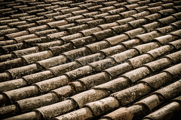 Old roof tile close-up Stock photo © Nejron