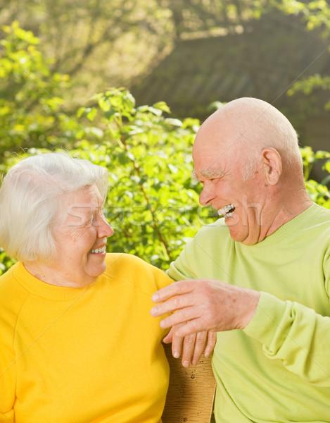 Happy senior couple outdoors Stock photo © Nejron