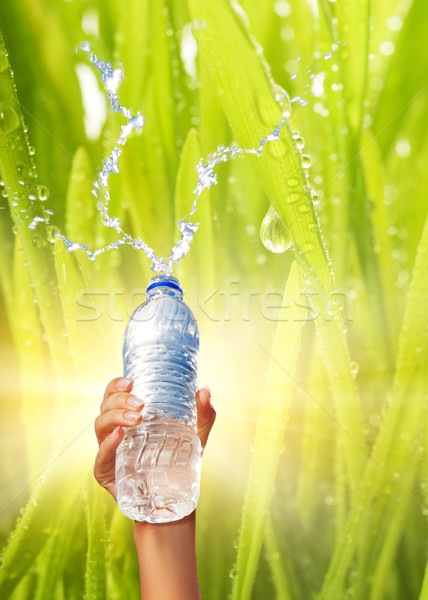 Human hand holding a bottle of water Stock photo © Nejron