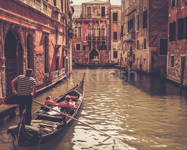 Traditional Venice gondola ride Stock photo © Nejron