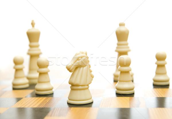 Game of chess isolated on white Stock photo © Nejron