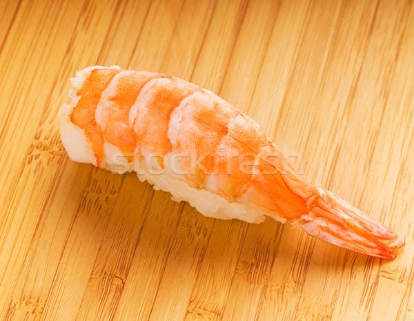 Rei camarão sashimi bambu prato comida Foto stock © Nejron