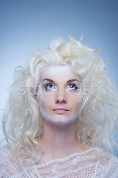 Neve rainha mulher menina beleza pele Foto stock © Nejron