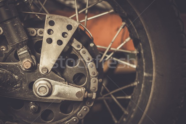 Motorcycle sprocket and custom chain guard  Stock photo © Nejron