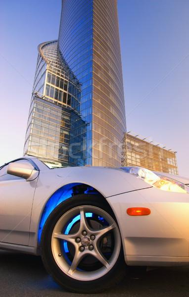Moderne sport auto kantoorgebouw hemel gebouw Stockfoto © Nejron
