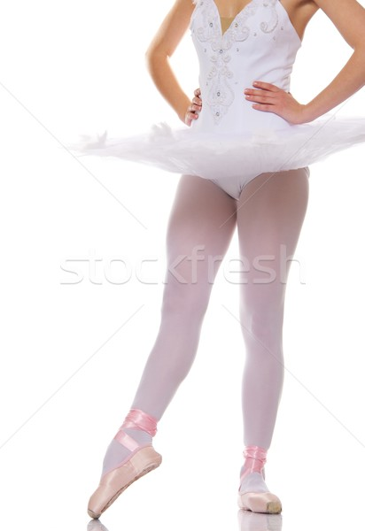 Stockfoto: Balletdanser · benen · vrouw · meisje · dans