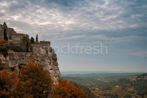 Town on a cliff, Les Baux-de-Provence, France Stock photo © Nejron
