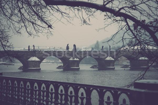 Charles bridge in Prague Stock photo © Nejron