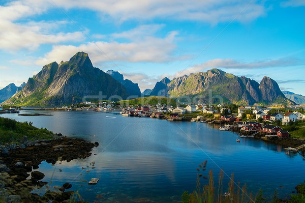 View over Reine village, Norway Stock photo © Nejron