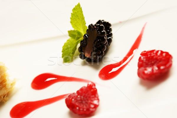 Napoleon puff tort with fresh  fruits  Stock photo © Nejron