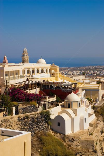 サントリーニ 島 ギリシャ ビーチ 水 家 ストックフォト © Nejron