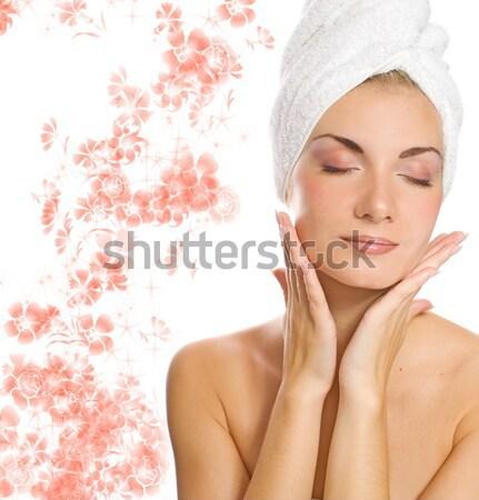 Beautiful girl with aroma bath ball Stock photo © Nejron