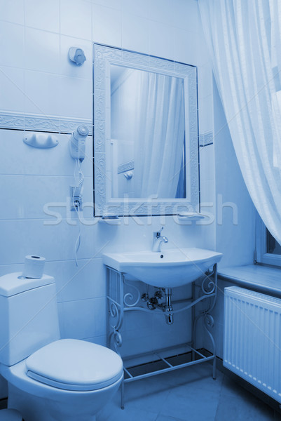 Hotel bahtroom interior toned in blue Stock photo © Nejron