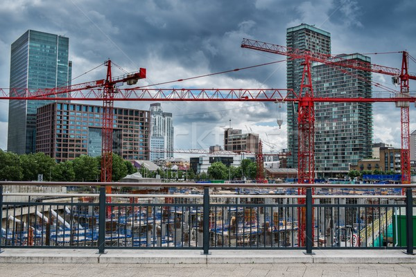 Construction yard in a modern city Stock photo © Nejron