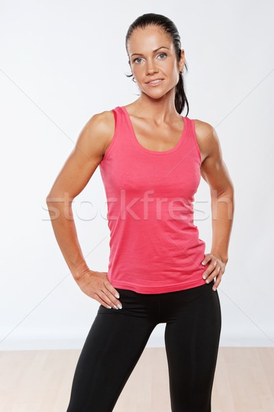 Beautiful athlete woman after training. Stock photo © Nejron