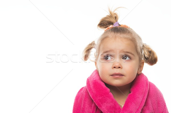 Little girl in dressing gown Stock photo © Nejron