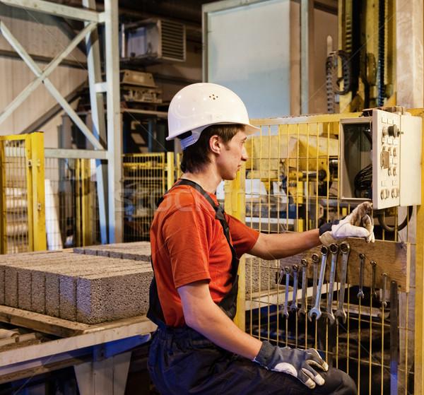 Stockfoto: Fabrieksarbeider · gebroken · werk · metaal