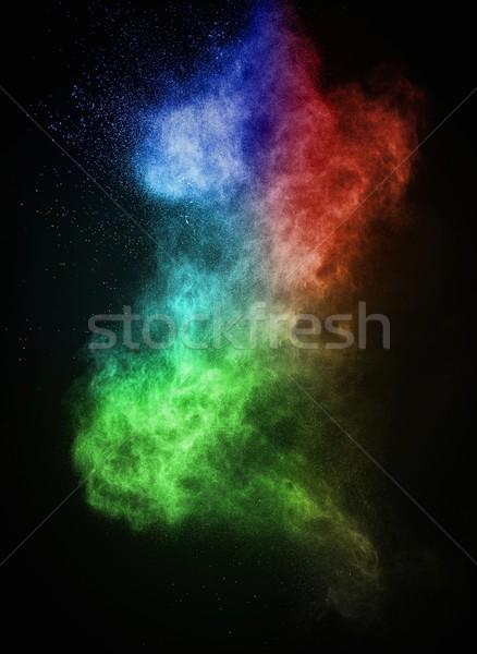 Renkli toz yalıtılmış siyah soyut patlama Stok fotoğraf © Nejron