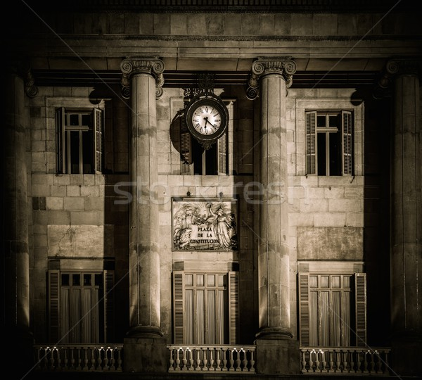 Edifício fachada la Barcelona casa parede Foto stock © Nejron