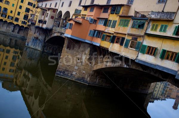 Ponte florence Itália água beleza Foto stock © Nejron