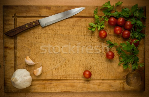 Repas préparation processus santé restaurant table Photo stock © Nejron