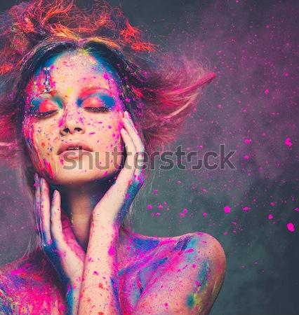 Сток-фото: муза · Creative · прическа · женщину