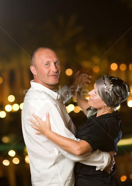 çift dans vals gece kadın Stok fotoğraf © Nejron