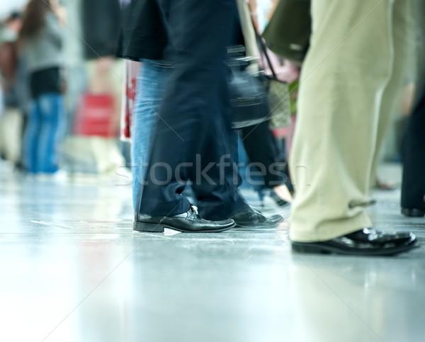 Stok fotoğraf: Hareketli · kalabalık · soyut · arka · plan · grup